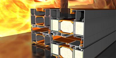 Priešgaisrinės aliuminio konstrukcijos